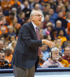 Jim Boeheim. Syracuse University men's basketball coach Jim Boeheim coaching during a basketball game Royalty Free Stock Photos