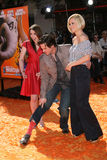 Jim Carrey Jane Carrey, Jenny McCarthy royaltyfri bild