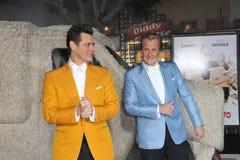 Jim Carrey & Jeff Daniels royaltyfri foto