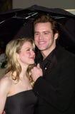 Jim Carrey, Renee Zellweger lizenzfreie stockfotos
