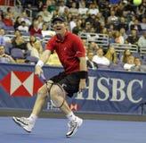 Jim Courier - legendas do tênis na corte 2011 Imagens de Stock