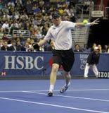 Jim Courier - legendas do tênis na corte 2011 Fotos de Stock