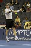 Jim Courier - legendas do tênis na corte 2011 Foto de Stock Royalty Free