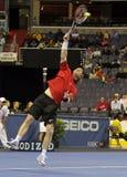 Jim Courier - legendas do tênis na corte 2011 Fotografia de Stock Royalty Free
