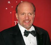 Jim Cramer. Colorful CNBC television personality `Mad Money Stock Images