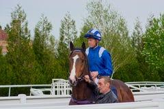Jim Crowley, puleggia tenditrice del campione di corsa di cavalli fotografia stock libera da diritti