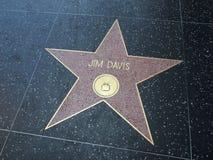 Jim Davis αστέρι σε Hollywood Στοκ Εικόνες