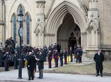 Jim Flaherty State Funeral in Toronto, Canada Royalty Free Stock Image