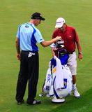 Jim Furyk and Fluff the caddie Royalty Free Stock Photo