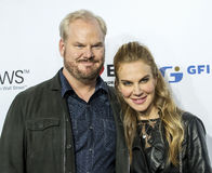 Jim Gaffigan and Jeannie Noth Gaffigan Royalty Free Stock Photos