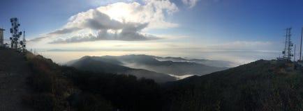 Jim Hiking Trail santo Silverado, Ca Foto panorámica Imagen de archivo