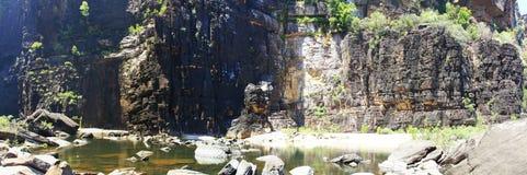 Jim Jim Falls al parco nazionale di Kakadu, Territorio del Nord, Australia Immagini Stock