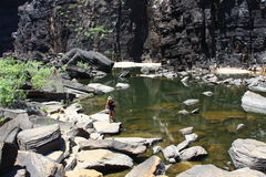 Jim Jim Falls, het Nationale Park van Kakadu, Australië Royalty-vrije Stock Foto's