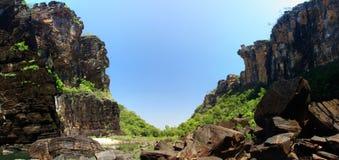 Jim Jim Falls, het Nationale Park van Kakadu, Australië Stock Foto