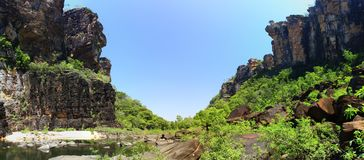 Jim Jim Falls at Kakadu National Park, Northern Territory, Australia Royalty Free Stock Images