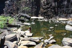 Jim Jim Falls, parque nacional de Kakadu, Austrália Fotos de Stock Royalty Free