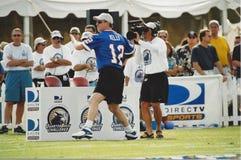 Jim Kelly. NFL QB Challenge contestant, Jim Kelly. (Image taken from color slide Stock Images
