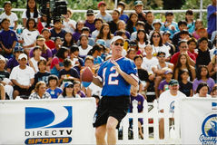 Jim Kelly. NFL QB Challenge contestant, Jim Kelly. (Image taken from color slide Royalty Free Stock Image