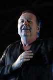 Jim Kerr of Simple Minds, live concert. Jim Kerr, singer and frontman of Simple Minds, live concert at Spilimbergo (Italy) in the beautiful historic square Stock Image