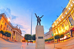 Jim Larkin monument in Dublin city centre. Shoot in summer time Royalty Free Stock Photo