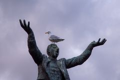 Jim Larkin que grita en la gaviota fotografía de archivo libre de regalías