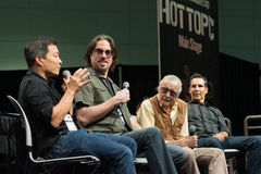 Jim Lee, Marc Silvestri, Stan Lee en Todd McFarlane Stock Afbeeldingen