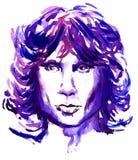 Jim Morrison drzwi lider ilustracja wektor