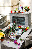 Jim Morrison grave Royalty Free Stock Photos