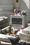 Jim Morrison grave at Père Lachaise Cemetery, Paris Stock Photo