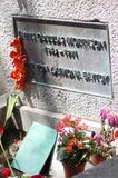 Jim Morrison's grave stone Stock Photos
