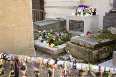 Jim Morrison Tombstone Père Lachaise photos stock