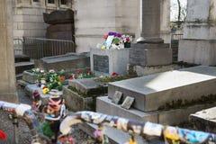 Jim Morrison Tombstone Paris Fotografia Stock Libera da Diritti