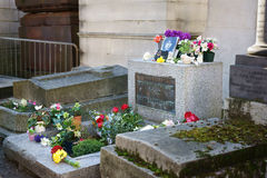 Jim Morrison Tombstone Paris Stock Image