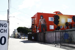 In Jim Morrison Wall Mural Royalty-vrije Stock Afbeelding