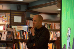 Jim Ottaviani at Nicola's Books June 2013 Royalty Free Stock Photos