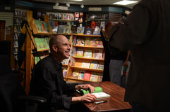 Jim Ottaviani at Nicola's Books June 2013 Royalty Free Stock Photo