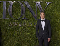 Jim Parsons at the 2015 Tony Awards. Actor Jim Parsons arrives on the red carpet for the 69th Annual Tony Awards at Radio City Music Hall in New York City on Royalty Free Stock Image