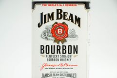 Jim promienia bourbonu amerykanina whisky obraz stock