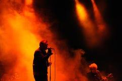 Jim Reid, cantante del Jesús y de Mary Chain, se realiza en el festival 2013 del sonido de Heineken Primavera Fotos de archivo
