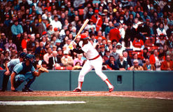Jim Rice Boston Red Sox. Boston Red Sox Hall of Famer Jim Rice at bat Stock Photos