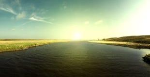 Jim River Sunrise Stock Fotografie