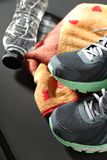 Jim sports shoes and accessories royalty free stock photo