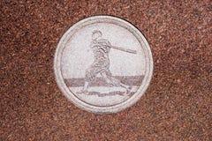 Free Jim Thorpe Grave Engavings Baseball Royalty Free Stock Images - 83215859