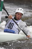 Jim Wade in water slalom world cup race Stock Photo