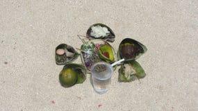 Jimbaran海滩,巴厘岛,印度尼西亚语 免版税库存图片