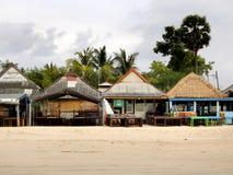 Jimbaran海滩咖啡馆  库存图片