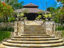 Bali, Indonesia - April 14, 2014: View of The main entrance Four Seasons Resort at Jimbaran Bay Stock Images