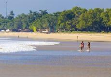 Jimbaran beach in Bali, Indonesia Royalty Free Stock Images