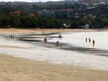 Jimbaran beach of Bali Royalty Free Stock Photos