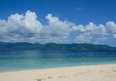Jimbaran beach at sunny day in Bali, Indonesia Stock Images